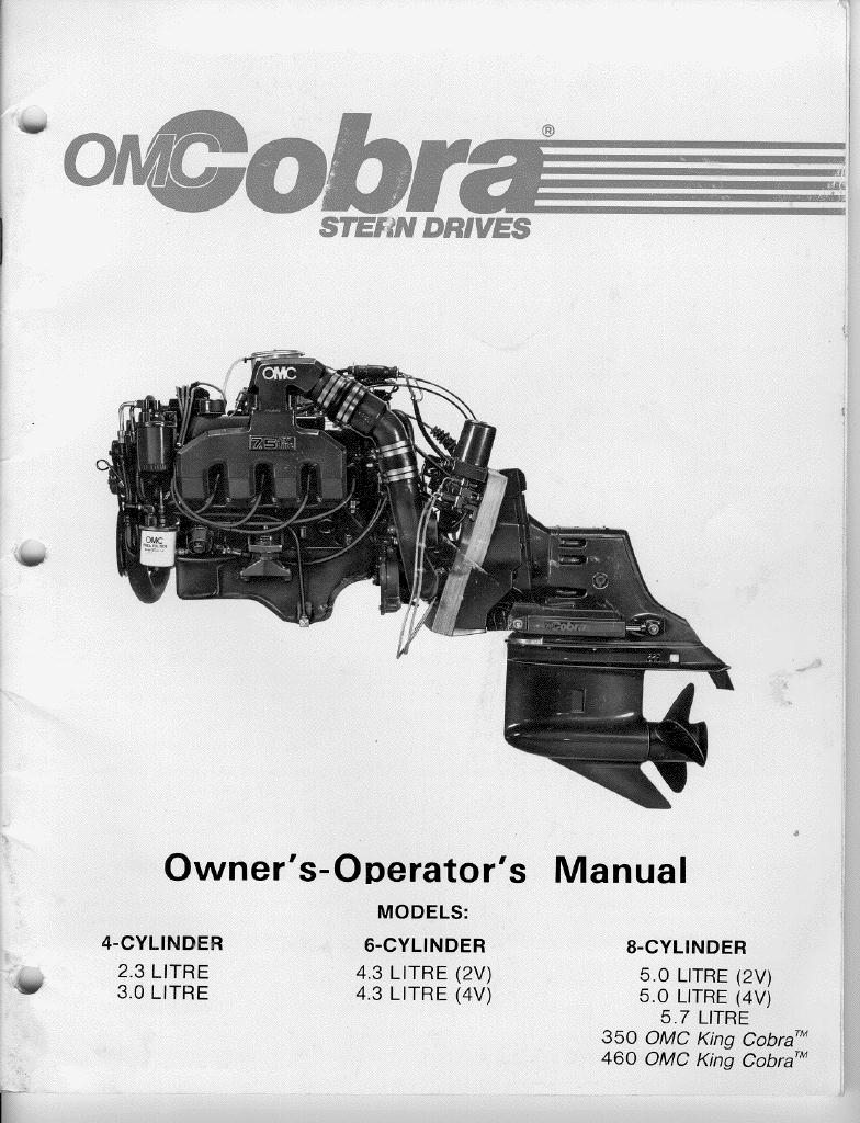 omc cobra sterndrive tech info prop exhaust labelled omc cobra