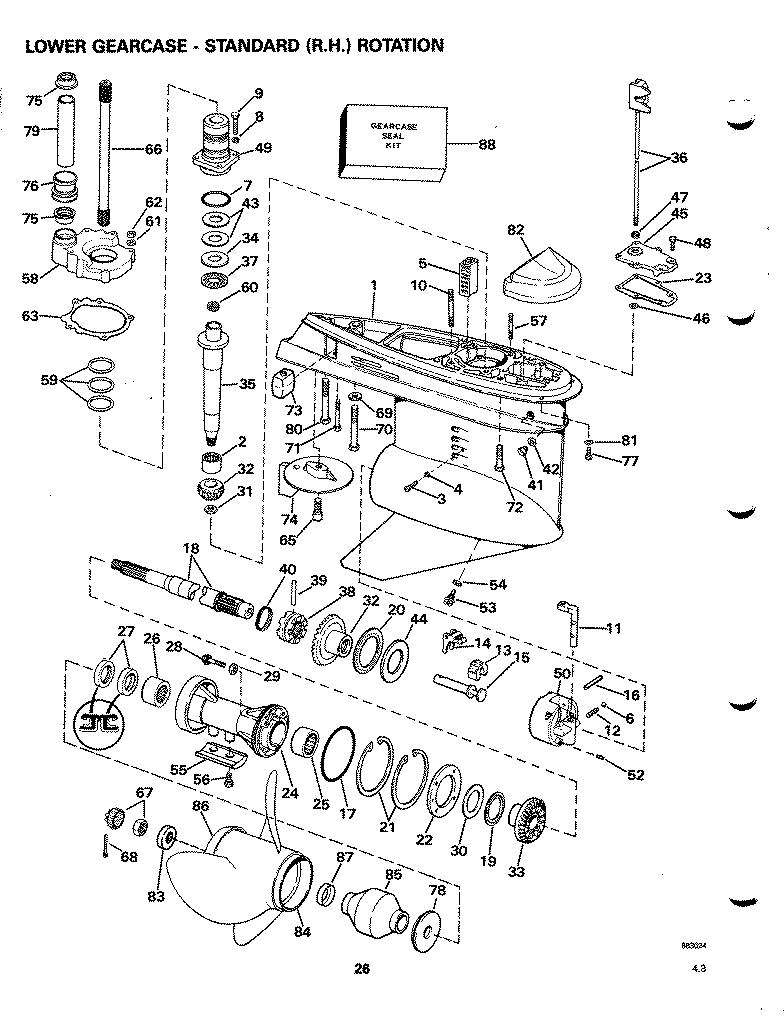 omc cobra sterndrive owner hints Chris Craft Wiring Diagram omc 400 sterndrive manual omc stern drive wiring diagram