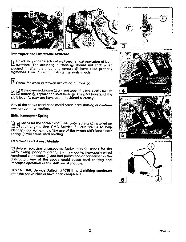 Diagnosis of Cobra shift problems, page 2 (180k)
