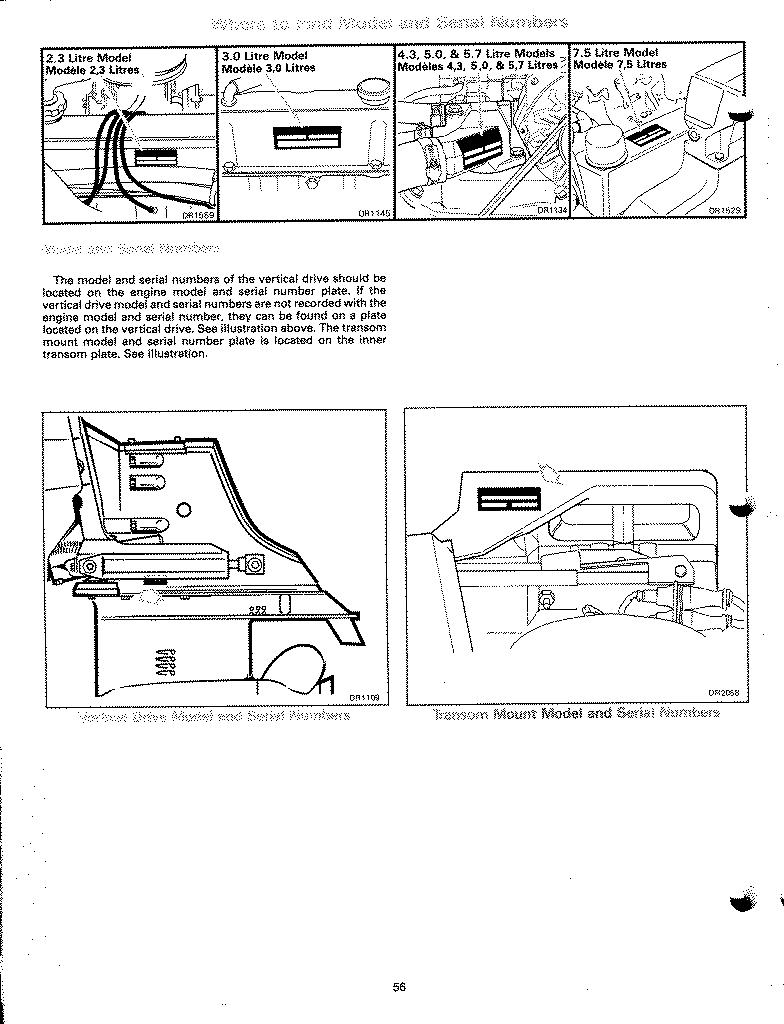 omc cobra sterndrive tech info this page was scanned from my 1998 owners manual and does not show where omc hid the serial number for smallblock ford v8s 302 351 or for gm big block