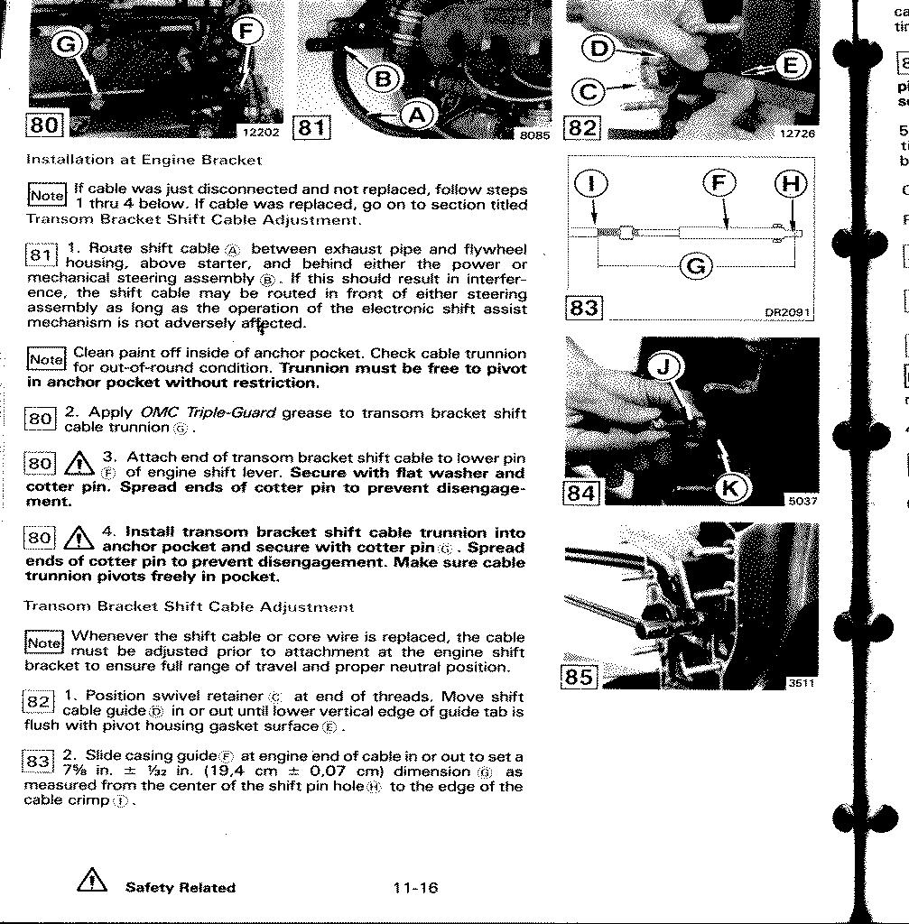 omc cobra sterndrive tech info adjusting your cobra shift linkage